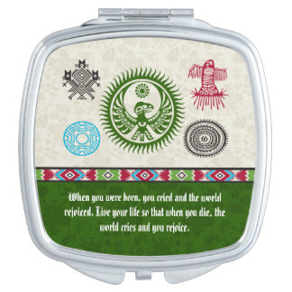 Native American Symbols and Wisdom - Phoenix Compact Mirrors