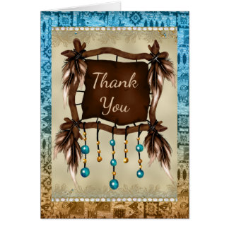 Native American Thank You Card
