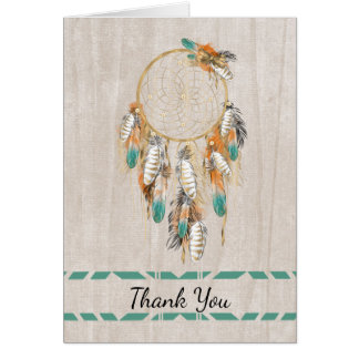 Native American Thank You with Dream Catcher Card
