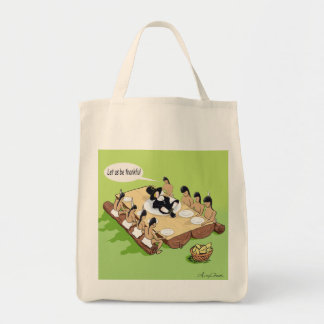 Native American Thanksgiving Grocery Tote Bag