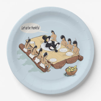 Native American Thanksgiving Personalized Paper Plate
