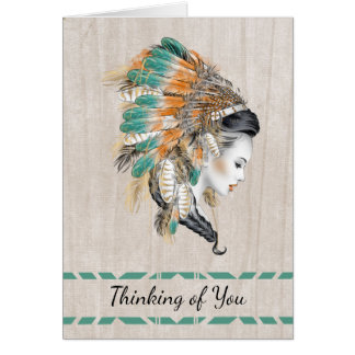 Native American Thinking of You Card
