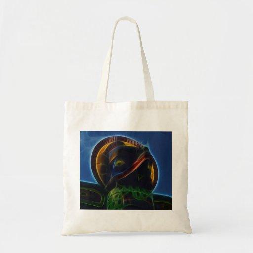 Native American Totem Pole Fractal Art Design Bag