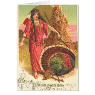 Native American & Turkey Card