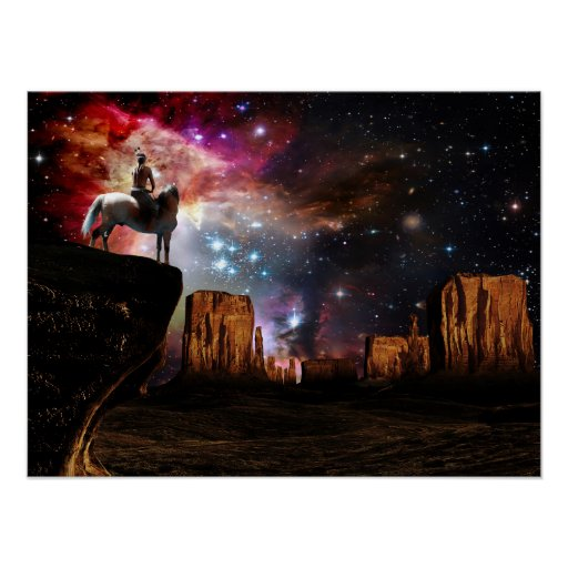 Native American Universe Poster