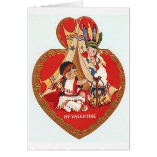 Native American Valentine Card