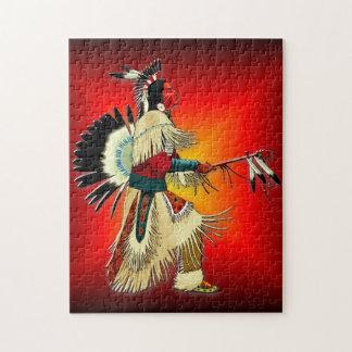 Native American Warrior Jigsaw Puzzle