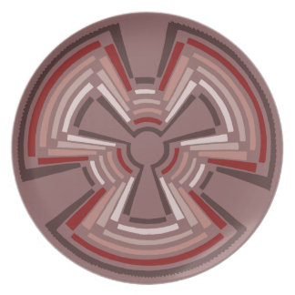 Native American whirling log symbol raspberry Dinner Plates