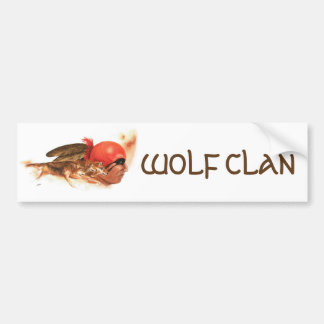 Native American Wolf Clan Bumper Sticker