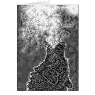 Native American Wolf Greeting Card