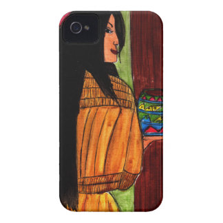 Native American Woman and Pottery Case-Mate iPhone 4 Case