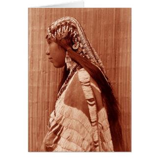 Native American Woman Greeting Card