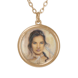 Native American Woman Necklace