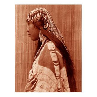Native American Woman Postcard