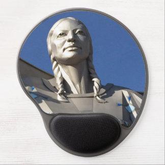Native American Woman Statue Gel Mousepad