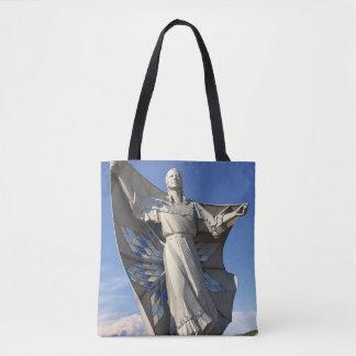 Native American Woman Statue Tote Bag