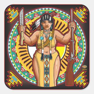 Native American woman sticker richard legarreta