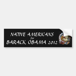 Native Americans for Barack Obama 2012 Bumper Sticker