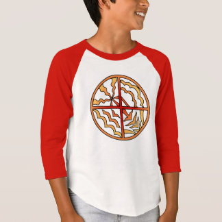 Native Art Shirt Kid's Elements Tribal Sun Jersey