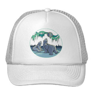 Native Bear Art Caps Hats Tribal Native Art Hat