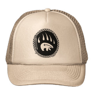 Native Bear Art Caps Hats Tribal Wildlife Art Hat
