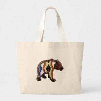 Native Bear Large Tote Bag