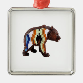 Native Bear Metal Ornament