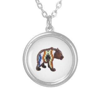 Native Bear Silver Plated Necklace