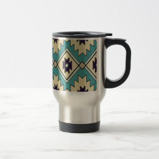 Native Chieftain Pattern Travel Mug
