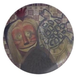Native Crazy Quilt Plate