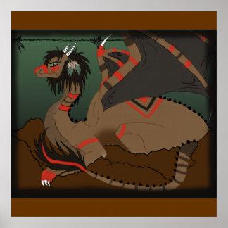 Native Dragon Poster
