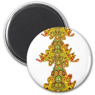 Native Ethnic Spirits Ghosts Masks Emblem Giveaway Refrigerator Magnet