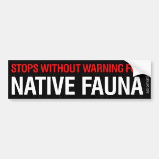 NATIVE FAUNA (WB) BUMPER STICKER