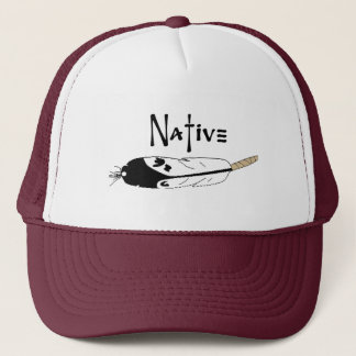 Native Feather Trucker Hat