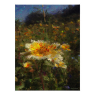 Native-flower Meadow 12x16 Canvas Poster Print