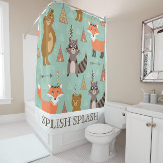 Native Forest Friends Shower Curtain