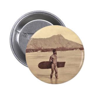 Native Hawaiian Surfer c 1890 Pin