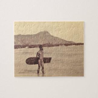 Native Hawaiian Surfer, c. 1890 Jigsaw Puzzle
