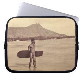 Native Hawaiian Surfer, c. 1890 Laptop Sleeve