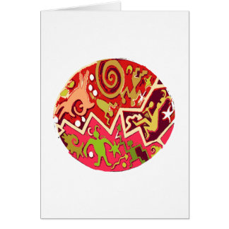 NATIVE Indian Art : Vintage Cave Style Card