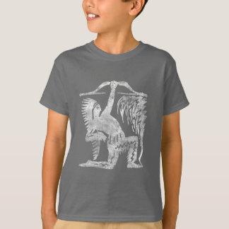 Native Indian Hunter. Distressed Grunge T-Shirt