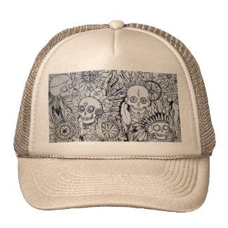 *native*indian*skull*hat*tattoo*art*graphics cap