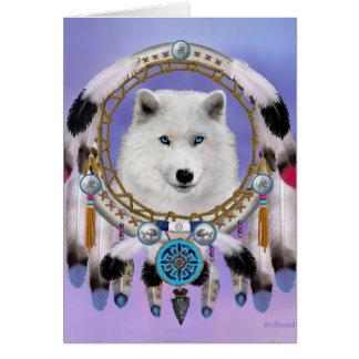 Native Indian Wolf Spirit Card