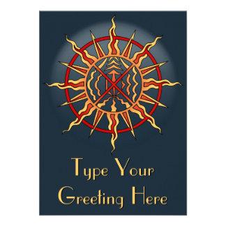 Native Invitations Personalized Native Spirit Card