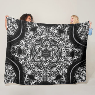Native Lightning Dragon Dream Lotus Flower Mandala Fleece Blanket