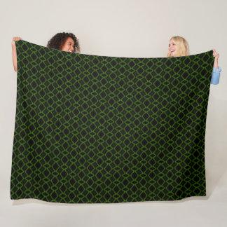 Native Neon Lizard Motion Satin Pattern Fleece Blanket