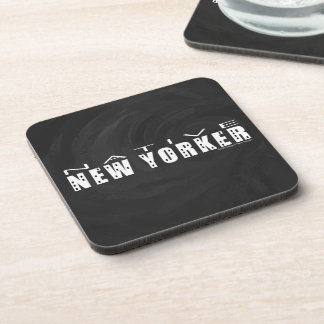 Native New Yorker black Drink Coaster