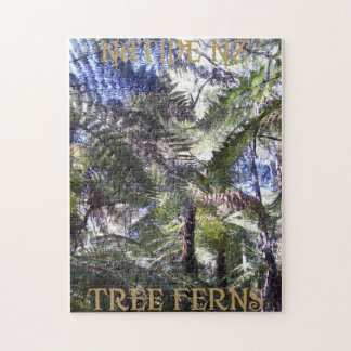 Native NZ tree ferns puzzle. Puzzle