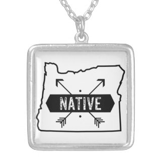 Native Oregon Silver Plated Necklace