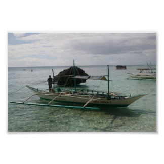 Native Outrigger  Boracay, Philippines Poster